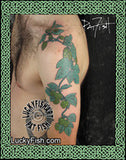 Alcohol Source Hops Vine Floral Tattoo Design