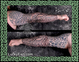 Valiant Full Arm Sleeve Celtic Knot Tattoo Design
