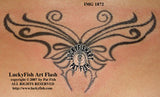 Dynamic Tribal Butterfly Tattoo Design