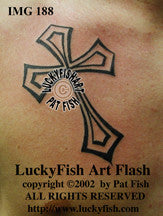 Gothic Cross Christian Tattoo Design 1