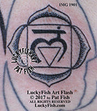 Lotus Petal Root Base Chakra Tattoo Design