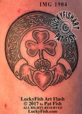 Shamrock Claddagh Ring Celtic Tattoo Design