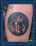 Horse Gypsy Vanner Tattoo Design