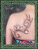 Tribal Spiral Lotus Tattoo Design