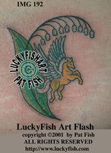 Pegasus Tattoo Design 1