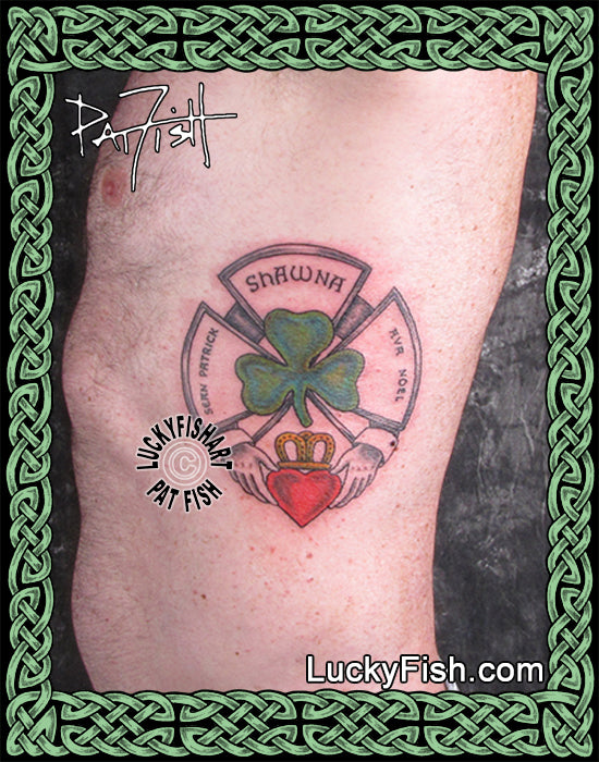 Fireman's Family Claddagh Tattoo Design