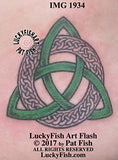 Ringed Triquetra Celtic Knot Tattoo Design
