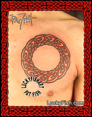 celtic scottish sanctuary ring tattoo design