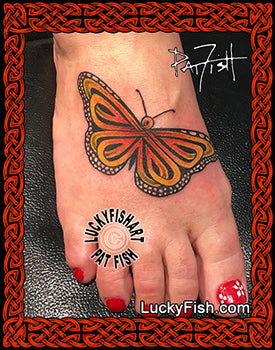 Celtic Monarch Butterfly Tattoo Design
