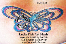 Dolphin Butterfly Tattoo Design 1