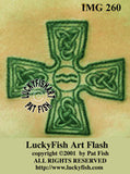 Aquarian Age Cross Celtic Tattoo Design 2
