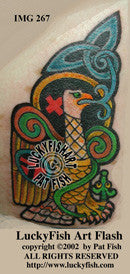 Evangeleagle Celtic Tattoo Design 1