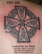 Legacy Cross Celtic Tattoo Design 1