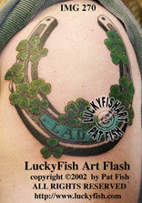 Lucky Horseshoe Tattoo Design 1