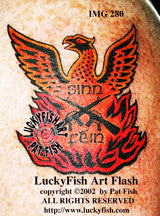 Sinn Fein Phoenix Irish Tattoo Design 1