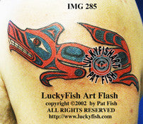 Haida Indian SeaWolf Tattoo Design 1