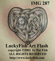 Heart Knot Celtic Tattoo Design 1