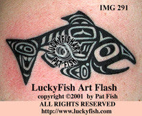 Haida Salmon Tattoo Design 1