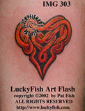 Passion Heart Celtic Tattoo Design 1