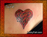 Passion Heart Celtic Tattoo Design 3