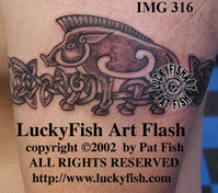 Pictish Pig Band Celtic Tattoo Design 1