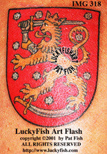 Finnish Coat of Arms Tattoo Design