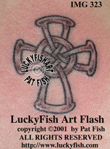 Ring Cross Celtic Tattoo Design 1