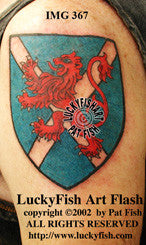 Saint Andrew's Lion Scottish Tattoo Design 1