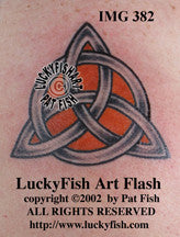 Classic Trinity Knot Celtic Tattoo Design 1