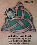 Classic Trinity Knot Celtic Tattoo Design 3