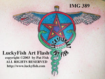 Pagan Caduceus Tattoo Design 1