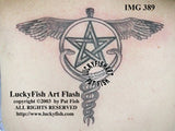 Pagan Caduceus Tattoo Design 2
