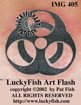 Biohazard Symbol Tattoo Design 1