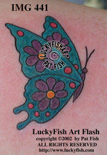 Daisy Butterfly Tattoo Design 1