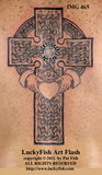 Claddagh Cross Celtic Tattoo Design 1