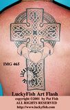 Claddagh Cross Celtic Tattoo Design 2