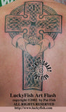 Claddagh Cross Celtic Tattoo Design 4