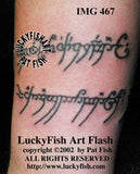 The One Ring Inscription LOTR Tattoo Design 2