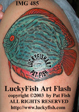 Discus Fish Tattoo Design 1