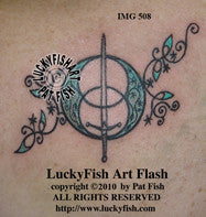 Chalice Well Celtic Tattoo Design 1