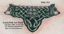 Wolf Love Celtic Tattoo Design 1