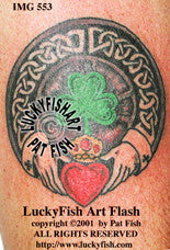 Claddagh Ring Celtic Tattoo Design 1