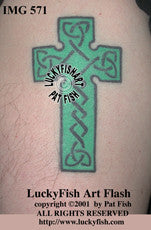 Pilgrim Cross Celtic Tattoo Design 1