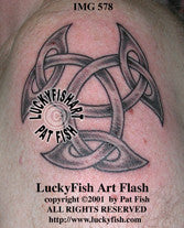 Open Triskle Celtic Tattoo Design 1