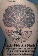 Dryad Celtic Tree Tattoo Design 1