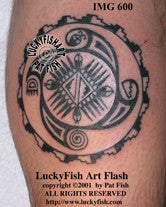 Hopi Good Luck Tattoo Design 1