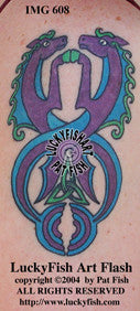Wave Riders Celtic Horse Tattoo Design 1