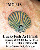 Scallop Shell Tattoo Design 1