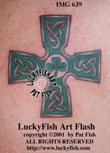 Shamrock Cross Celtic Tattoo Design 1