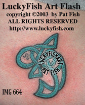 Knotty Fish Celtic Tattoo Design